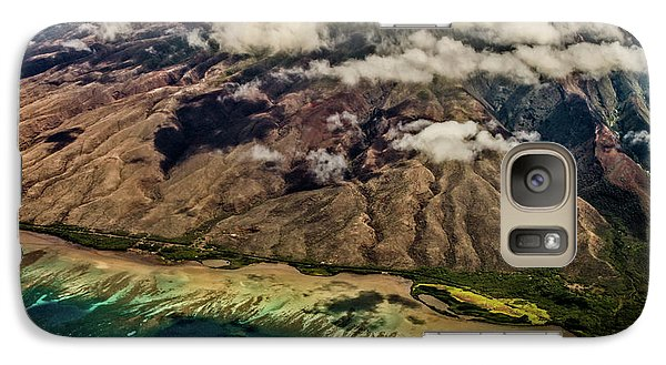Galaxy Case featuring the photograph Molokai From The Sky by Joann Copeland-Paul