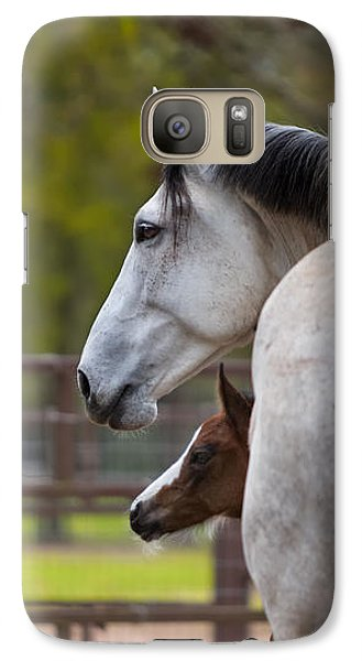 Galaxy Case featuring the photograph Mom And Baby by Sharon Jones