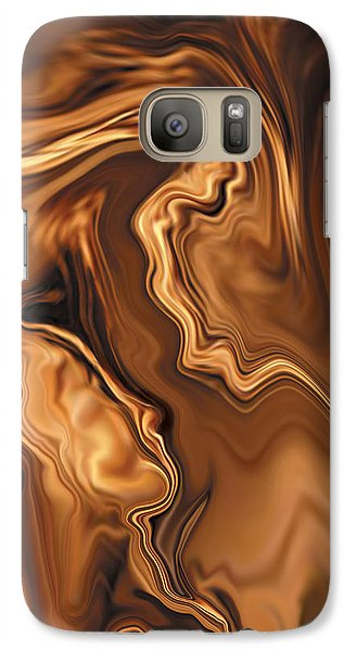 Galaxy Case featuring the digital art Moment Before The Kiss by Rabi Khan