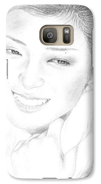 Galaxy Case featuring the drawing Momoe Yamaguchi by Eliza Lo