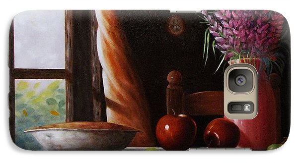 Galaxy Case featuring the painting Mom's Apple Pie  by Gene Gregory