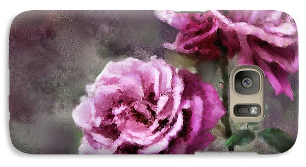 Galaxy Case featuring the digital art Moms Roses by Susan Kinney