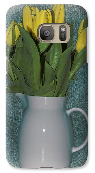 Galaxy Case featuring the photograph Moms Tulips by William Havle