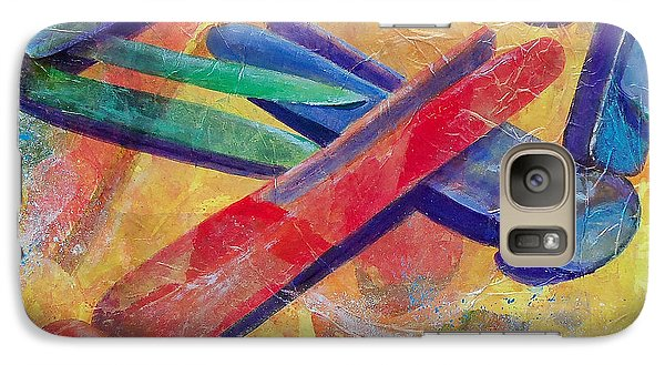 Galaxy Case featuring the painting Mom's Wash Day by Susan DeLain