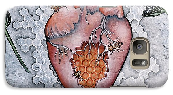 Galaxy Case featuring the painting Mon Coeur- Where The Honeybees Live by Sheri Howe