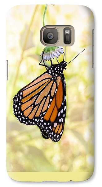 Monarch Butterfly Hanging On Wildflower Galaxy S7 Case