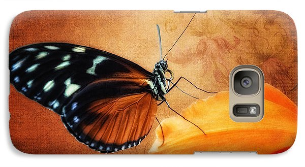 Orchid Galaxy S7 Case - Monarch Butterfly On An Orchid Petal by Tom Mc Nemar
