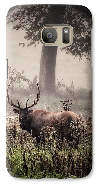 Galaxy Case featuring the photograph Monarch In The Mist by Michael Dougherty