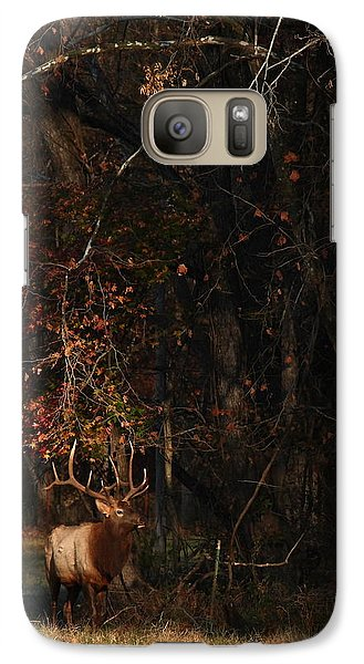 Galaxy Case featuring the photograph Monarch Joins The Rut by Michael Dougherty