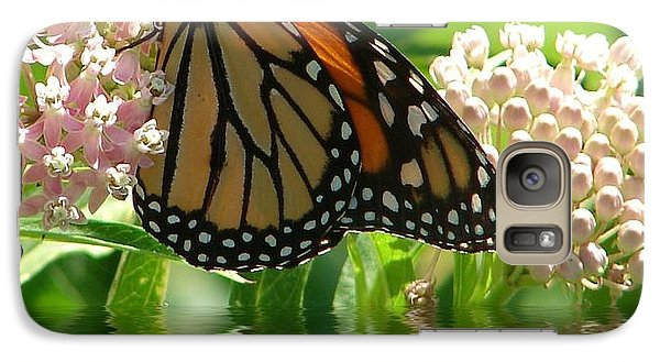 Galaxy Case featuring the photograph Monarch Lunch by Rick Friedle