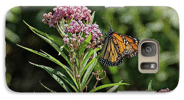 Galaxy Case featuring the photograph Monarch On Milkweed by Sandy Keeton