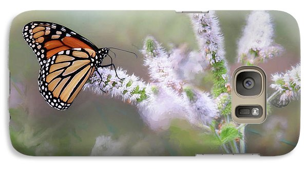 Galaxy Case featuring the photograph Monarch On Mint 1 by Lori Deiter