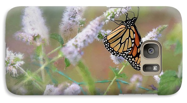 Galaxy Case featuring the photograph Monarch On Mint 2 by Lori Deiter