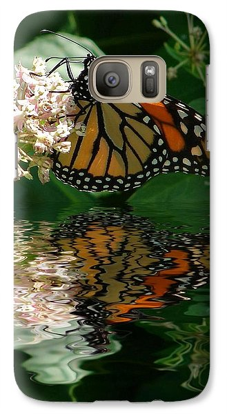 Galaxy Case featuring the photograph Monarch Reflection by Rick Friedle