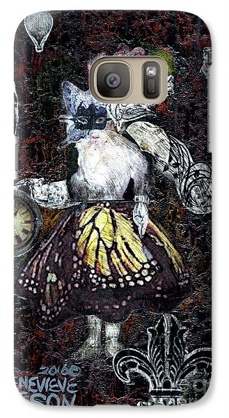 Galaxy Case featuring the mixed media Monarch Steampunk Goddess by Genevieve Esson