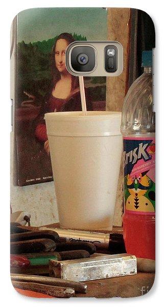 Galaxy Case featuring the photograph Monas Sodas by Joe Jake Pratt