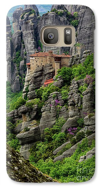 Monastery Of Saint Nicholas Of Anapafsas, Meteora, Greece Galaxy S7 Case