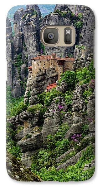 Monastery Of Saint Nicholas Of Anapafsas, Meteora, Greece Galaxy S7 Case