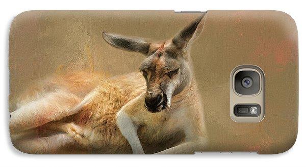 Monday Morning Drowsies Kangaroo Art Galaxy S7 Case