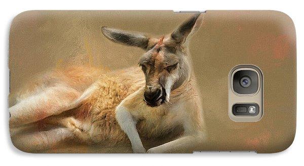 Monday Morning Drowsies Kangaroo Art Galaxy Case by Jai Johnson