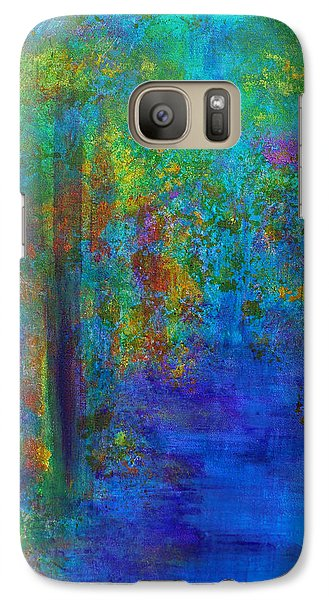 Galaxy S7 Case featuring the painting Monet Woods by Claire Bull