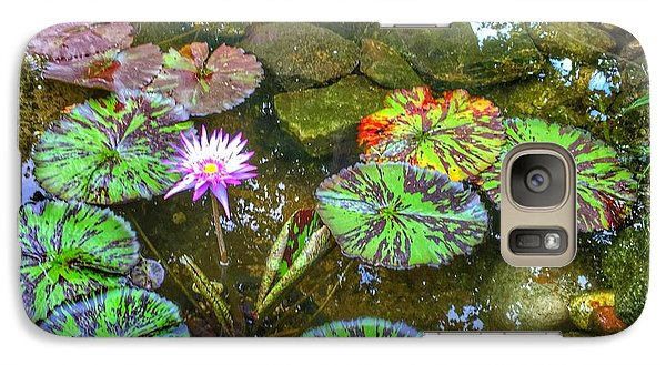 Galaxy Case featuring the photograph Monet's Pond At The Fair by Jame Hayes