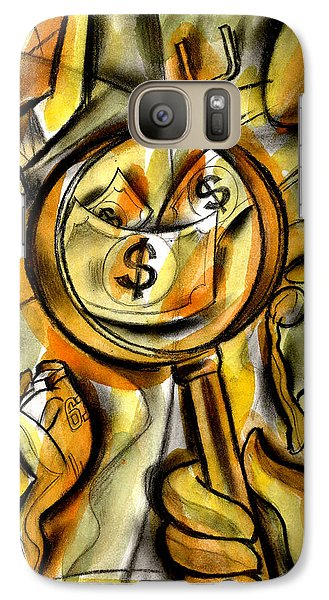 Galaxy Case featuring the painting Money And Professional Sports   by Leon Zernitsky