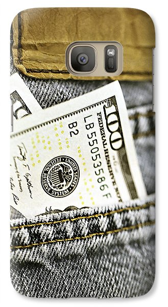 Galaxy Case featuring the photograph Money Jeans by Trish Mistric