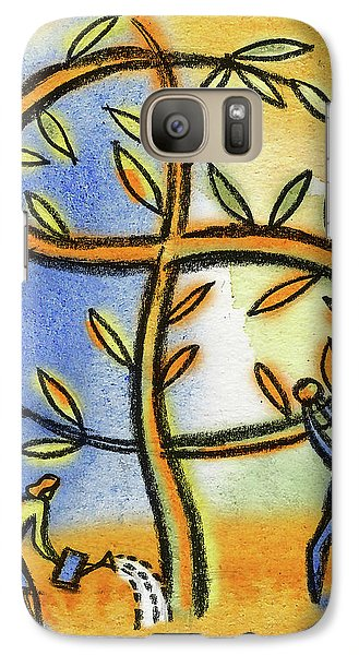 Galaxy Case featuring the painting Money Tree by Leon Zernitsky