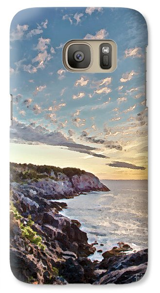 Galaxy Case featuring the photograph Monhegan East Shore by Tom Cameron