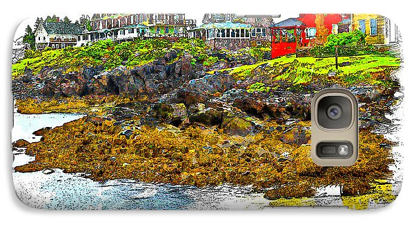 Galaxy Case featuring the photograph Monhegan West Shore by Tom Cameron