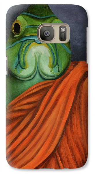 Galaxy Case featuring the painting Monk Fish by Leah Saulnier The Painting Maniac