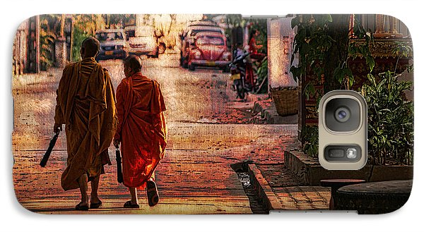 Galaxy Case featuring the digital art Monk Mates by Cameron Wood