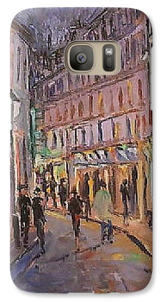 Galaxy Case featuring the painting Monmartre by Walter Casaravilla