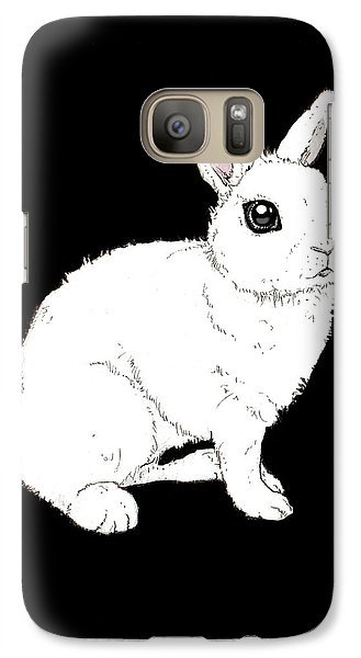 Monochrome Rabbit Galaxy Case by Katrina Davis