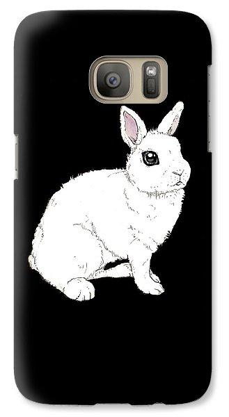 Monochrome Rabbit Galaxy S7 Case by Katrina Davis