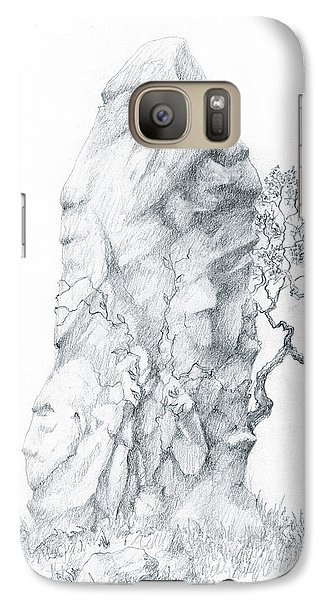 Galaxy Case featuring the drawing Monolith 2 by Curtiss Shaffer