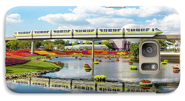 Monorail Cruise Over The Flower Garden. Galaxy S7 Case