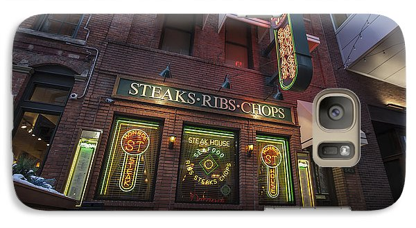 Galaxy Case featuring the photograph Monroe St Steakhouse by Nicholas Grunas