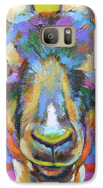 Galaxy Case featuring the painting Monsieur Goat by Robert Phelps