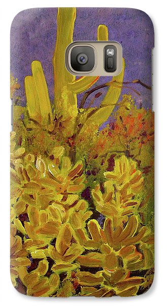 Galaxy Case featuring the painting Monsoon Glow by Julie Todd-Cundiff
