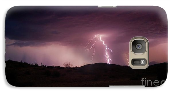 Galaxy Case featuring the photograph Monsoon Lightning by Anthony Citro