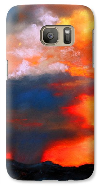 Galaxy Case featuring the painting Monsoon Shower by M Diane Bonaparte