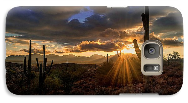 Galaxy Case featuring the photograph Monsoon Sunburst by Anthony Citro