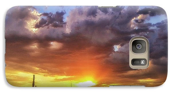 Galaxy Case featuring the photograph Monsoon Sunset by Anthony Citro
