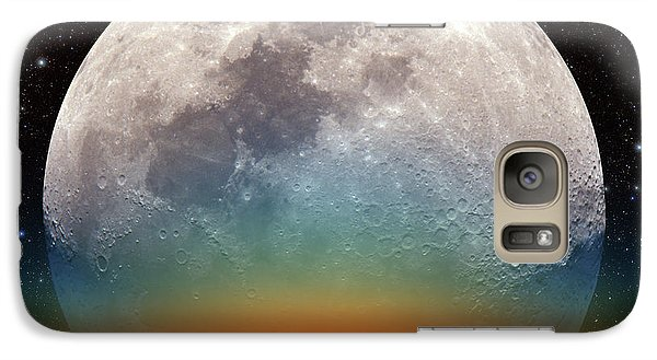 Galaxy Case featuring the photograph Monster Moonrise by Larry Landolfi