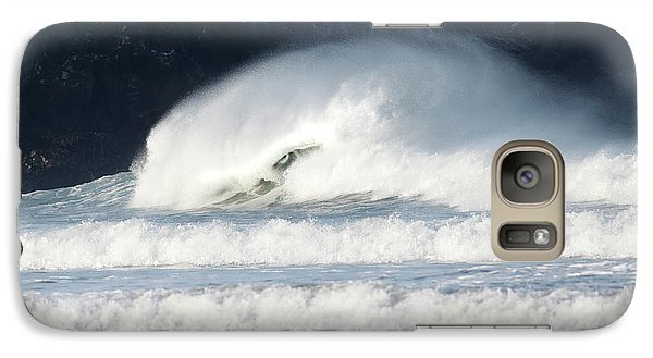 Galaxy Case featuring the photograph Monster Wave by Nicholas Burningham