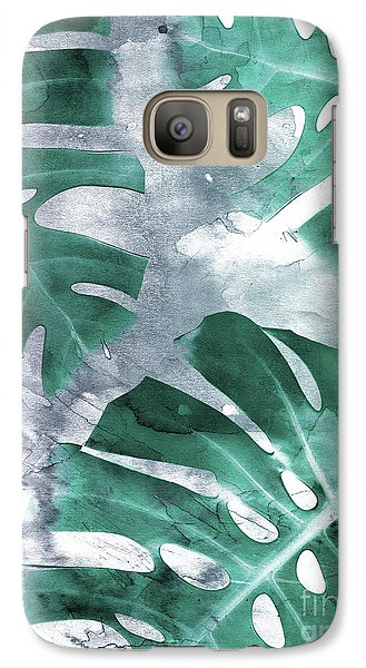 Monstera Theme 1 Galaxy S7 Case by Emanuela Carratoni