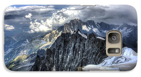 Galaxy Case featuring the photograph Mont Blanc Near Chamonix In French Alps by Shawn Everhart