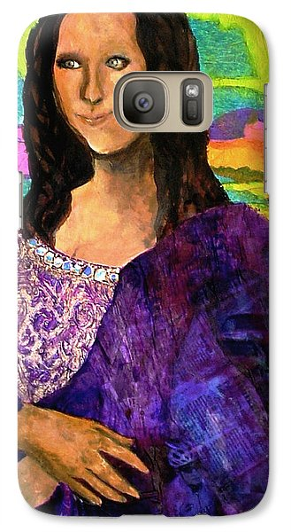 Galaxy Case featuring the painting Montage Mona Lisa by Laura  Grisham